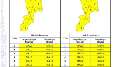 Criticità idrogeologica-idraulica e temporali in Calabria 05-10-2021