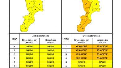 Criticità idrogeologica-idraulica e temporali in Calabria 06-10-2021