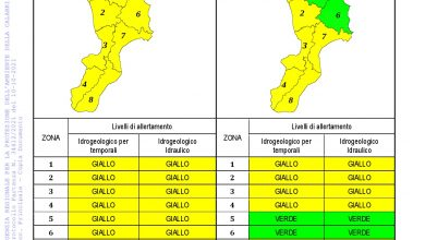 Criticità idrogeologica-idraulica e temporali in Calabria 10-10-2021