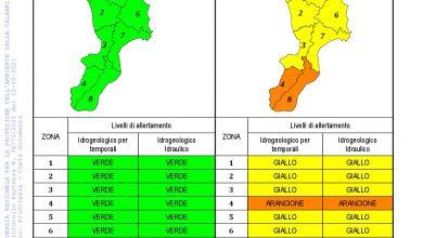 Criticità idrogeologica-idraulica e temporali in Calabria 12-10-2021