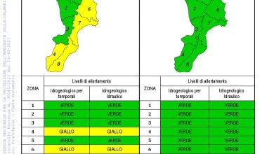 Criticità idrogeologica-idraulica e temporali in Calabria 14-10-2021