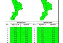 Criticità idrogeologica-idraulica e temporali in Calabria 15-10-2021