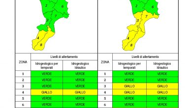 Criticità idrogeologica-idraulica e temporali in Calabria 16-10-2021