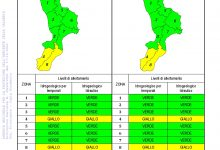Criticità idrogeologica-idraulica e temporali in Calabria 17-10-2021