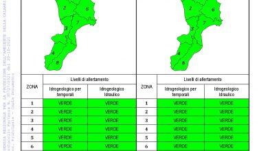 Criticità idrogeologica-idraulica e temporali in Calabria 20-10-2021