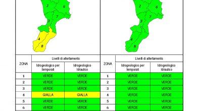 Criticità idrogeologica-idraulica e temporali in Calabria 22-10-2021
