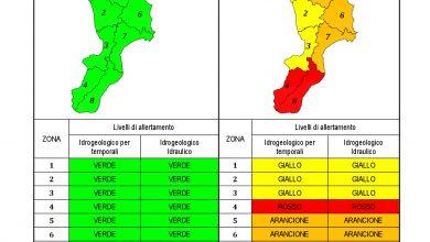 Criticità idrogeologica-idraulica e temporali in Calabria 23-10-2021
