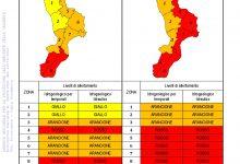 Criticità idrogeologica-idraulica e temporali in Calabria 24-10-2021